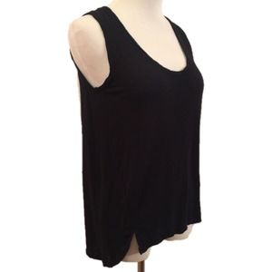 Madewell Anthem Tank Top Black High Low Slits S